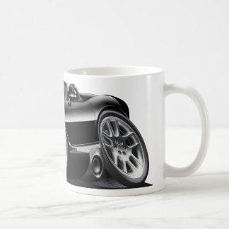 Coche del negro del automóvil descubierto de la taza