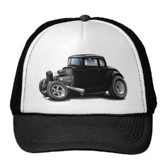 coche del negro del coche de carreras de los años  gorras de camionero