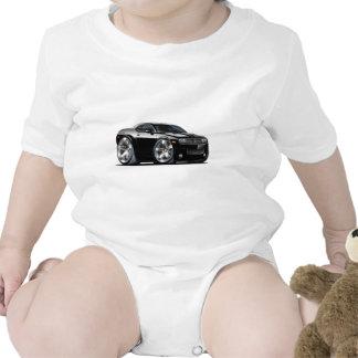 Coche del negro del desafiador de Dodge Trajes De Bebé