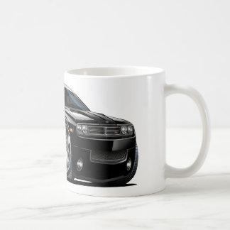 Coche del negro del desafiador de Dodge Taza De Café