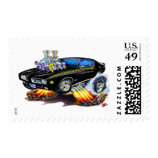 Coche del negro del juez de 1969 GTO Sellos