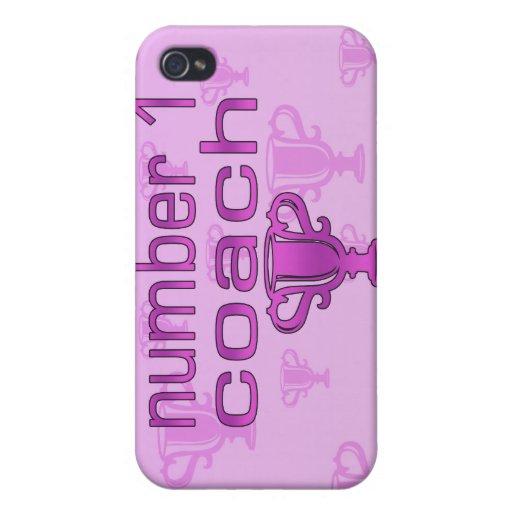 Coche del número 1 en rosa iPhone 4 carcasa