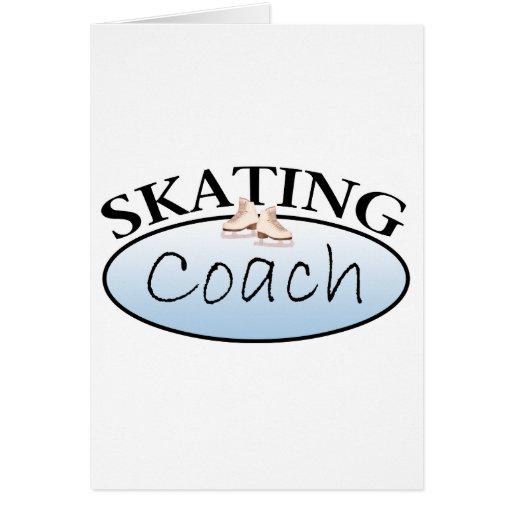 Coche del patinaje artístico felicitación