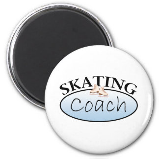 Coche del patinaje artístico imán redondo 5 cm