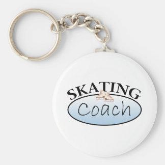 Coche del patinaje artístico llavero redondo tipo pin