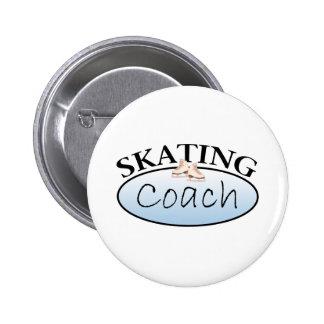 Coche del patinaje artístico pin redondo de 2 pulgadas