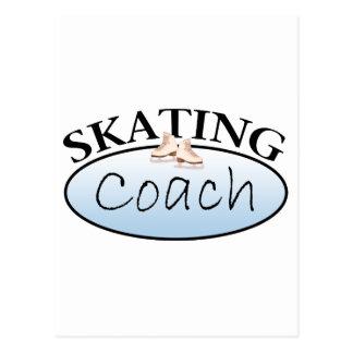 Coche del patinaje artístico postales