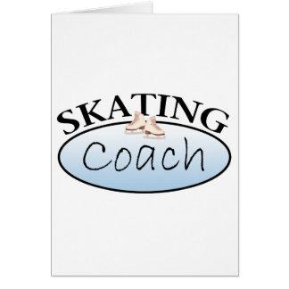Coche del patinaje artístico tarjeta de felicitación