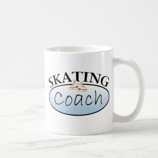 Coche del patinaje artístico taza básica blanca