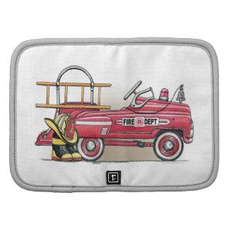 Coche del pedal del coche de bomberos organizador