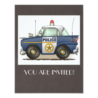 """Coche del poli de Crusier de la policía del coche Invitación 4.25"""" X 5.5"""""""