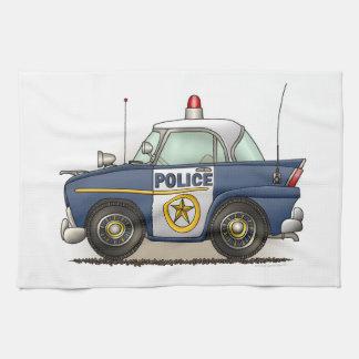 Coche del poli de Crusier de la policía del coche  Toallas De Cocina
