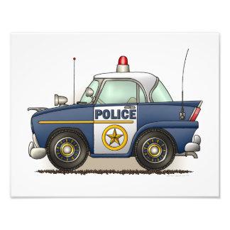 Coche del poli de Crusier de la policía del coche  Arte Fotográfico