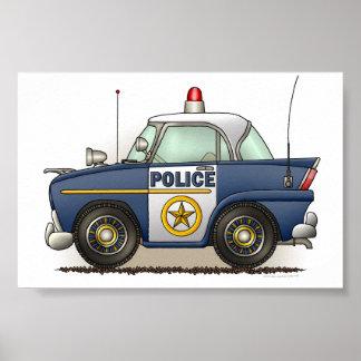 Coche del poli de Crusier de la policía del coche  Póster