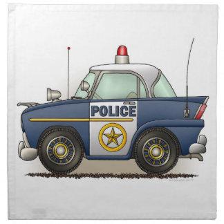 Coche del poli de Crusier de la policía del coche  Servilleta De Papel