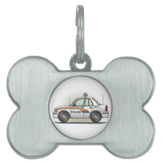 Coche del poli del coche del crucero de la policía placas de mascota