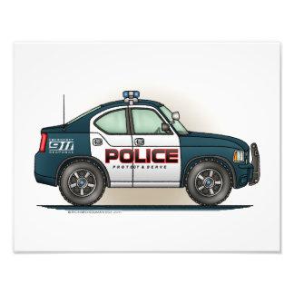 Coche del poli del coche del interceptor de la pol fotografía