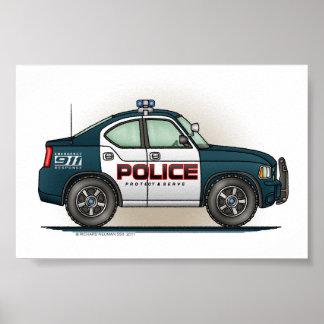 Coche del poli del coche del interceptor de la pol póster