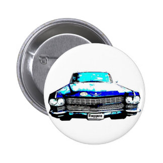 coche del raggare de Cadillac Pin Redondo 5 Cm