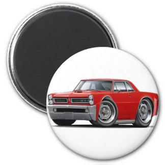 Coche del rojo de 1965 GTO Imán Redondo 5 Cm