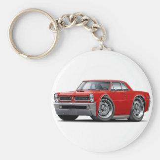 Coche del rojo de 1965 GTO Llaveros