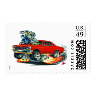 Coche del rojo de 1965 GTO Sellos Postales