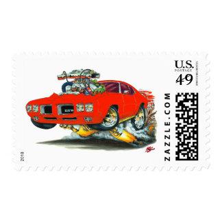 Coche del rojo de 1970 GTO Timbre Postal