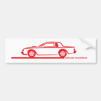 Coche del rojo de Buick Grand National Etiqueta De Parachoque
