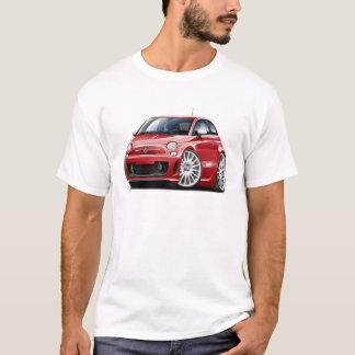 Coche del rojo de Fiat 500 Abarth Playera