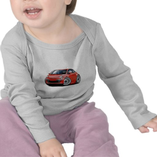 Coche del rojo de Fiat 500 Camiseta