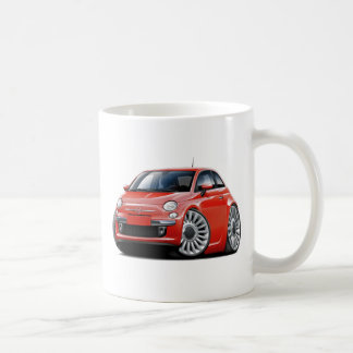 Coche del rojo de Fiat 500 Tazas