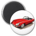 Coche del rojo de Jaguar XKE Iman