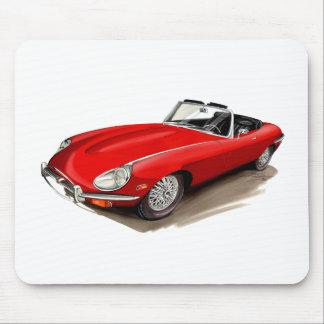 Coche del rojo de Jaguar XKE Tapetes De Ratones