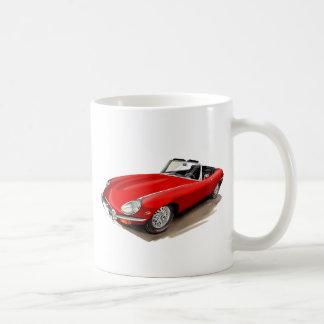 Coche del rojo de Jaguar XKE Taza Clásica
