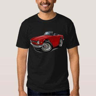 Coche del rojo de Triumph TR6 Camisas