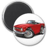 Coche del rojo de Triumph TR6 Iman De Nevera