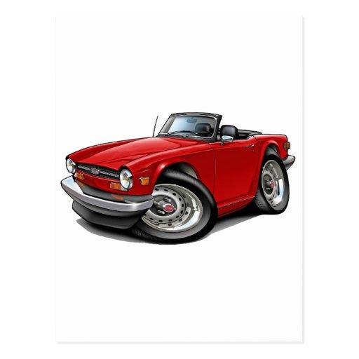 Coche del rojo de Triumph TR6 Postal