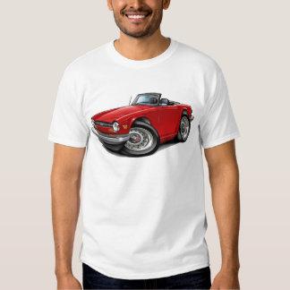 Coche del rojo de Triumph TR6 Remeras