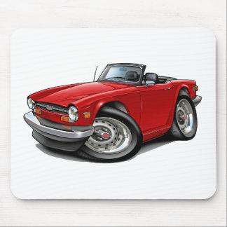 Coche del rojo de Triumph TR6 Tapete De Ratones