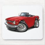 Coche del rojo de Triumph TR6 Alfombrillas De Raton