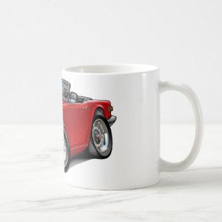 Coche del rojo de Triumph TR6 Taza De Café