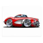 Coche del rojo del Corvette Postal