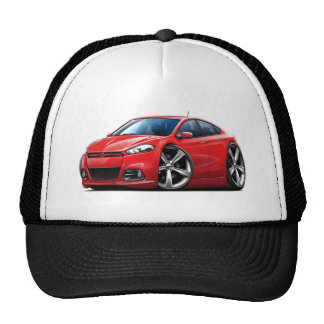 Coche del rojo del dardo de 2013 Dodge Gorros Bordados