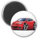 Coche del rojo del dardo de 2013 Dodge Imán Redondo 5 Cm
