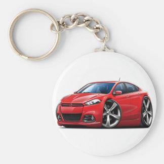 Coche del rojo del dardo de 2013 Dodge Llavero Redondo Tipo Pin
