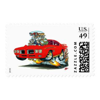 Coche del rojo del juez de 1970 GTO Sellos