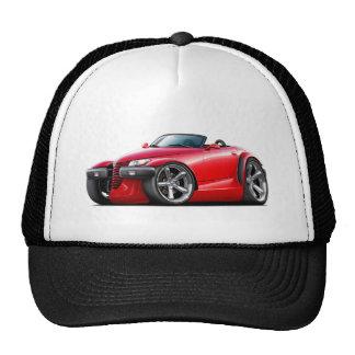 Coche del rojo del merodeador gorras de camionero