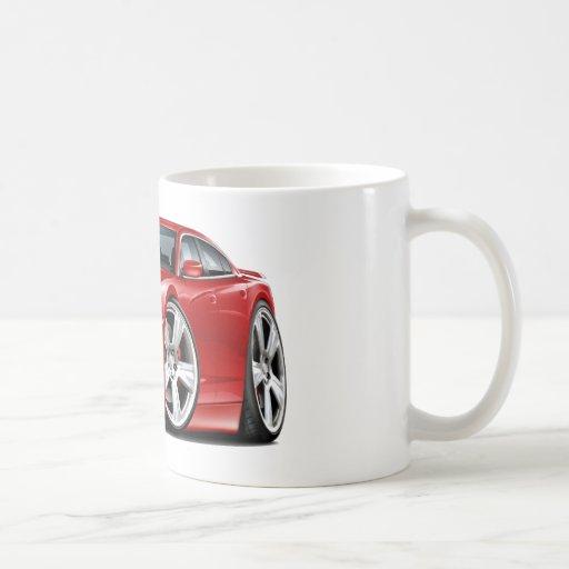 Coche del rojo del RT del cargador de Dodge Taza Básica Blanca