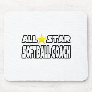 Coche del softball de All Star Alfombrilla De Raton