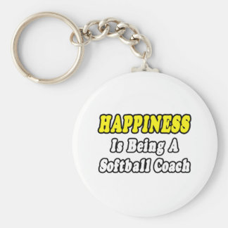 Coche del softball de la felicidad… llavero